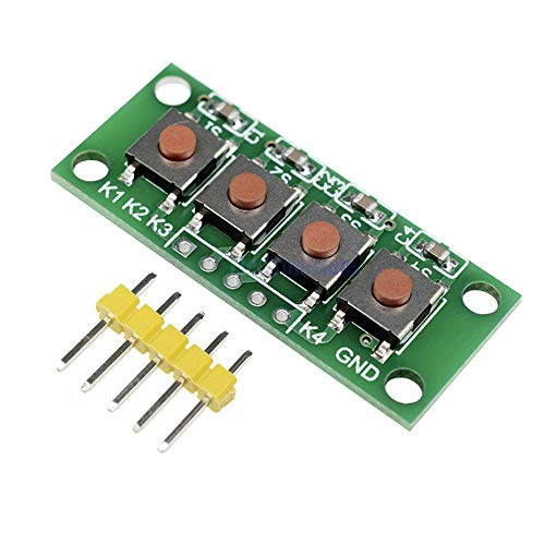 1x4 4 Keys Button 5 Pin Keypad Keyboard Module Mcu Board for Student Class Design Graduation Project Experiment DIY Kit Geekcreit for A-r-d-u-i-n-o - products that work with official A-r-d-u-i-n-o boa