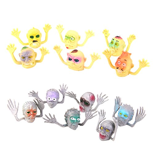 SM SunniMix 12 Unidades Puppets Jefe Finger Marionetas de Peluche Herramientas Entertainmento