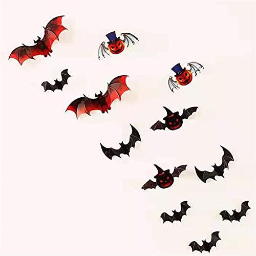 Decorazione di Halloween 12pcs/set 3D nero stereo stereo bat adesivo murale Fai da te BAT di zucca di arredamento di Halloween PVC.Adesivi Decorazioni for feste di Halloween Forniture ( Color : 9 )