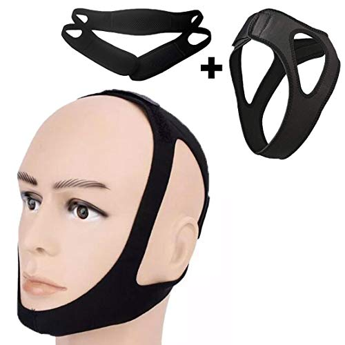ORANDESIGNE Anti Snoring Chin Strap- 2 Pack Face Slimming Strap, Snore Stopper Guard for a Natural Snore Relief, Nose Vents & Sleep Mask | Stop Snoring Tonight with Anti Snoring Devices