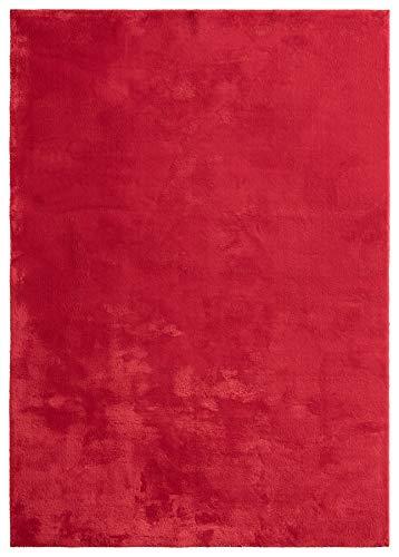 "Mia´s Teppiche ""Olivia"" Tapis Salon, Courte Pile, 80x150 cm, Rouge"