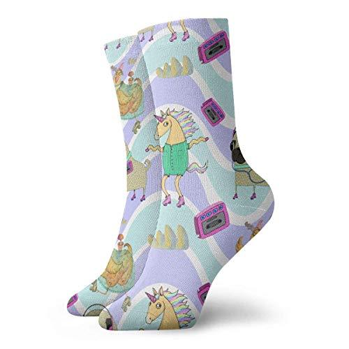 LanKa Rollschuhe Herren gedruckt lustige Neuheit lässig Crew Dress Socken für Damen/Unisex