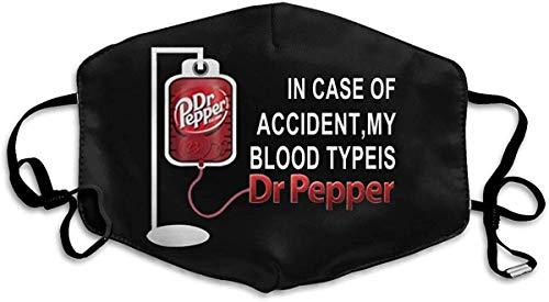 fenrris65 Protección contra el polvo unisex para la nariz en caso de accidente, My Blood Type is Dr Pepper ajustable, resistente al viento, cara de algodón, color negro