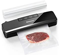 Vacuum Sealer Machine, Slaouwo Automatic Vacuum Packing Machine, Compact Food Sealer Vacuum For Food Preservation, Dry & Moist Food Modes, Patented Cutter, Led Indicator Light, Roll Vacuum Bags