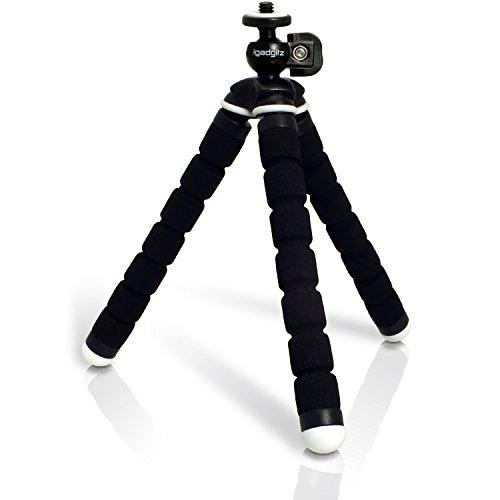 iGadgitz U3598 Leichtgewichts Klein Universal Ultraflexibel Schaum Dreibeinstativ Mini-Stativ Kompatibel mit Kompakt Kameras - Schwarz