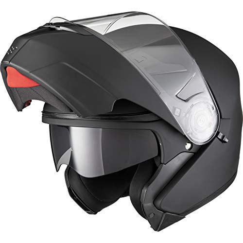 Agrius Fury Flip Front Motorcycle Helmet L Matt Bl