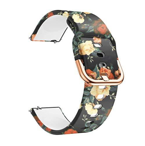 Correas para Relojes, Hanyixue Compatible con Samsung Galaxy Watch 42mm/Active 40mm, Pulsera de Repuesto Correa de Silicona para Hombres, Mujeres (D)