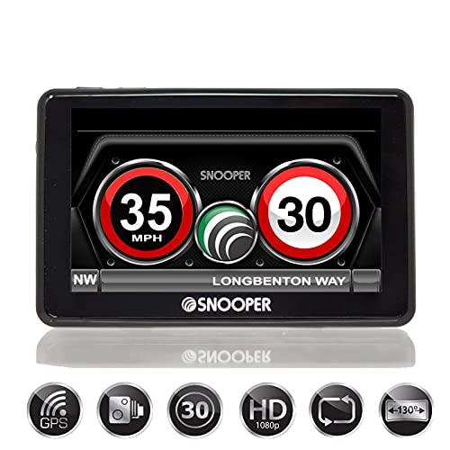 Snooper My-SPEED DVR G3 5' 1080p Full HD Dash Cam, GPS, EU Speed Limits and Camera Alerts Detector