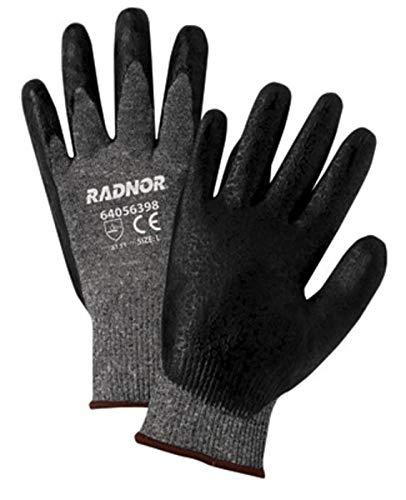 Radnor Medium Black Premium Foam Nitrile Palm Coated Work Glove With 15 Gauge Seamless Nylon Liner And Knit Wrist