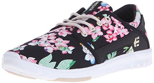 Etnies Damen Scout Sneaker, Black/Floral 993, 39 EU