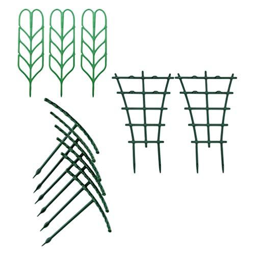 Angoily 11 Stück Gartenpflanze Klettergitter Topfpflanze Anbau Unterstützung DIY Pflanze Klettergerüst Drahtgitter Gitterplatten Gitter Netz für Efeurosen Gurken Clematis Töpfe