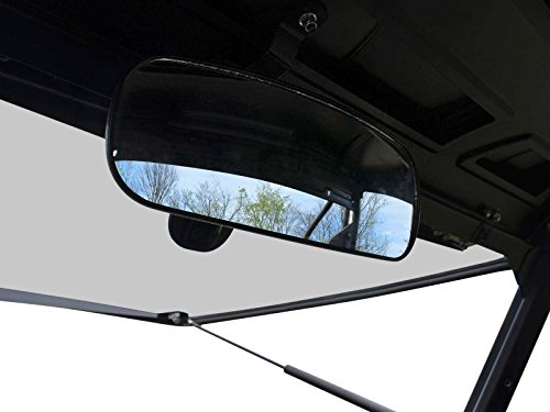 SuperATV Adjustable Rear View Mirror for Polaris Ranger 570/900 / 1000 / Crew (See Fitment for Compatible Models and Years) - Easy to Install!