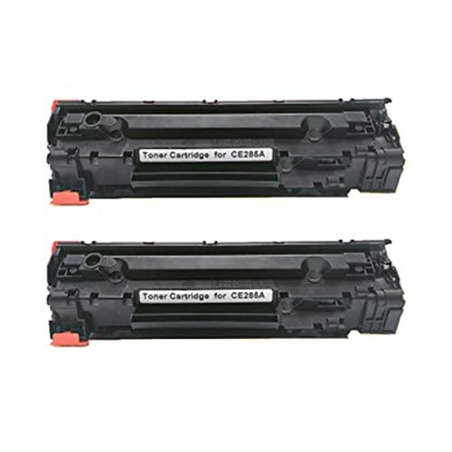 HYYH Reemplazo de Cartucho de tóner Compatible para HPCE285A para HP Color Laserjet Pro P1102 P1102W M1132 M1212NF M1214NFH M1217NFW Printer, con Chip Negro 2pcs