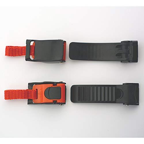 DUOIAO Motorrad Schnellverschluss Schnallen und Verschlüsse Fahrradhelm Verschluss für Motoradhelm (Schwarz + Orange)