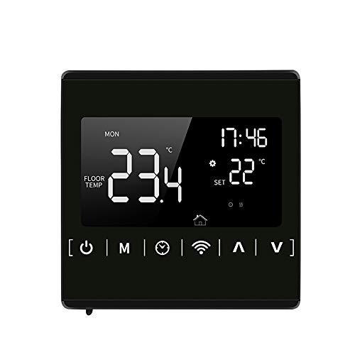 Decdeal Termostato WiFi Caldaia,Termostato Intelligente,Cronotermostato Programmabile Settimanale,Controllo App/LCD Touchscreen,Protezione Surriscaldamento Funzione Antigelo,GC