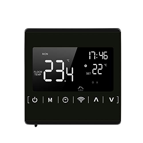 85-250V Termostato inteligente Wifi KKmoon Termostato programable semanal Control de app LCD...