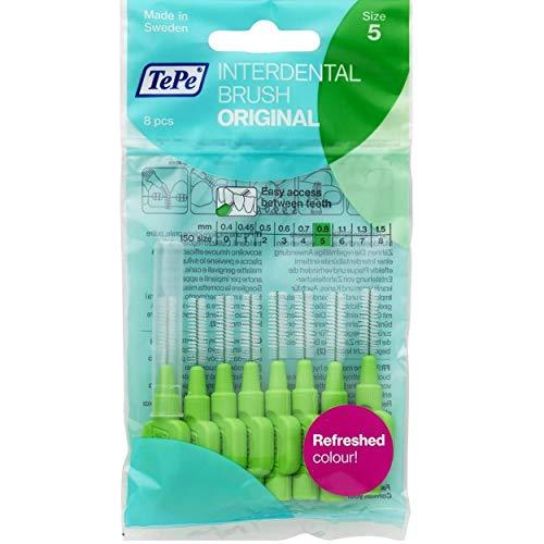 TePe Bürsten für die Zahnzwischenräume, 0,8mm, Grün, 4Pakete pro 8Stück