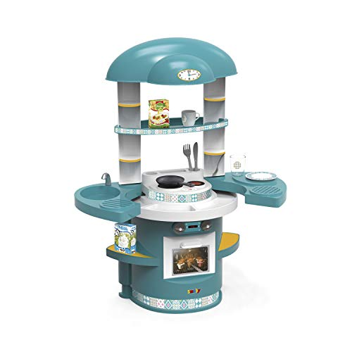 Smoby Cucina Giocattolo First Kitchen, Colore Blu, Unico (310718), Colore/Modello Assortiti