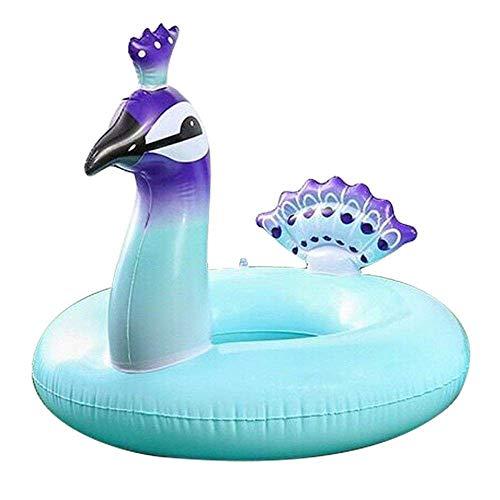 Haojie Piscina Fila Flotante -, Verano al Aire Libre Peacock Piscina Flotador/Peso Menos de 70kg