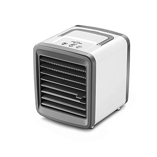 Ventilador De Aire Acondicionado Portátil, Mini Breeze Blast Refrigerador De Aire Personal, Ventilador De Enfriamiento De Escritorio Recargable USB Silencioso Personal Con 7 Luces LED Y 2 Velocidade