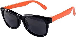 NIUASH - Gafas de Sol polarizadas Gafas de Sol polarizadas para bebés Gafas de Sol de Silicona Coloridas para niños Gafas de Sombra Uv400 para niños y niñas