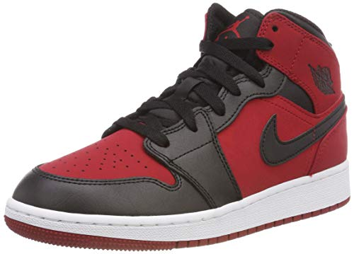 Nike Herren Air Jordan 1 Mid (GS) Fitnessschuhe, Rot (Gym Red/Black/White 610), 40 EU