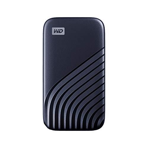 WD My Passport SSD 2 TB mobile Festplatte (NVMe-Technologie, USB-C und USB 3.2 Gen-2 kompatibel, Lesen 1050 MB/s, Schreiben 1000 MB/s) Mitternachtsblau