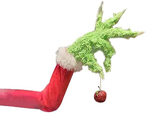 ANGELLY Elf Body for Christmas Tree Decorations,Christmas Tree Ornament How Stole Christmas Stuffed Elf Legs Stuck in Christmas Burlap Wreath (Elf Arm, One Size)