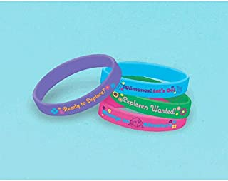 American Greetings Dora The Explorer Rubber Bracelets Party Supplies (4 Count)