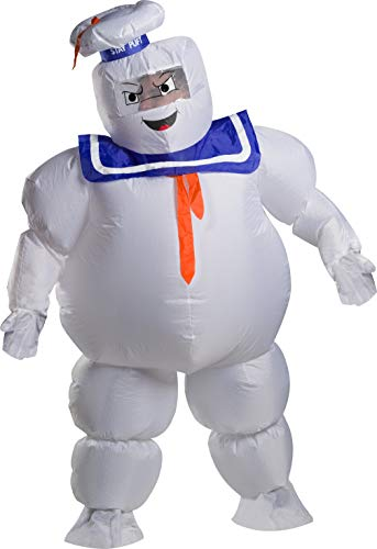 Adults Official Inflatable Stay Puft Marshmallow Man Costume, standard or plus size