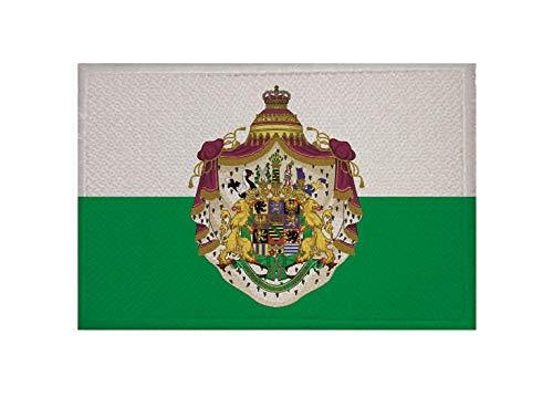 U24 Aufnäher Königreich Sachsen großes Wappen Fahne Flagge Aufbügler Patch 9 x 6 cm