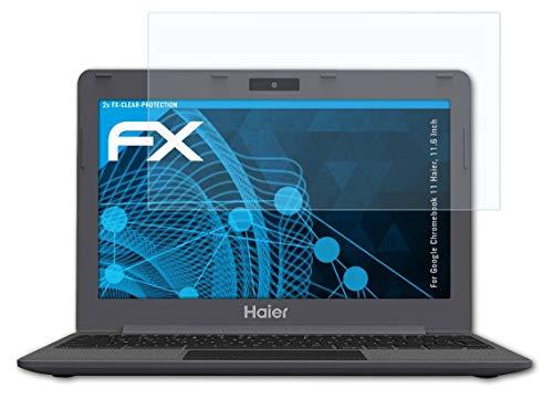 atFolix Schutzfolie kompatibel mit Google Chromebook 11 Haier, 11.6 Inch Folie, ultraklare FX Bildschirmschutzfolie (2X)