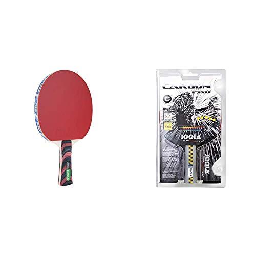 JOOLA Tischtennisschläger ROSSKOPF Classic ITTF zugelassener Tischtennis-Schläger, 2,00 MM Schwamm & Carbon Pro ITTF Zugelassener Tischtennis-Schläger für Fortgeschrittene Spieler, Mehrfarbig
