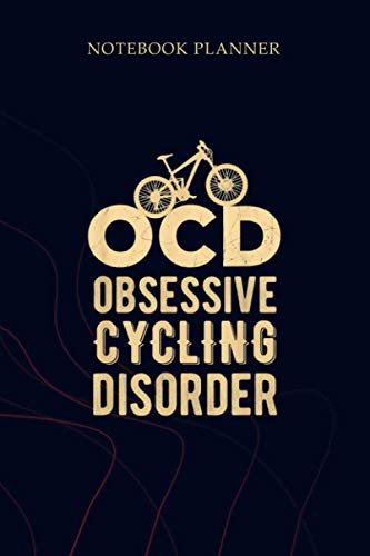 Notebook Planner OCD Obsessive Cycling Disorder Distressed Bicycle: 114 Pages, To Do List, Mom, Gym, Planning, 6x9 inch, Planner, Simple
