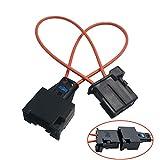 Greluma 2 Piezas Most Adaptador de Cable Óptico de Fibra Óptica del Conector de Cable Óptico de Derivación y Herramienta de Diagnóstico de Adaptador Macho para Automóvil