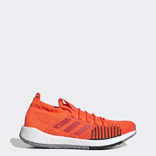 adidas Originals Men's PulseBOOST HD Running Shoe, Solar red/hi-res red/Black, 10 M US