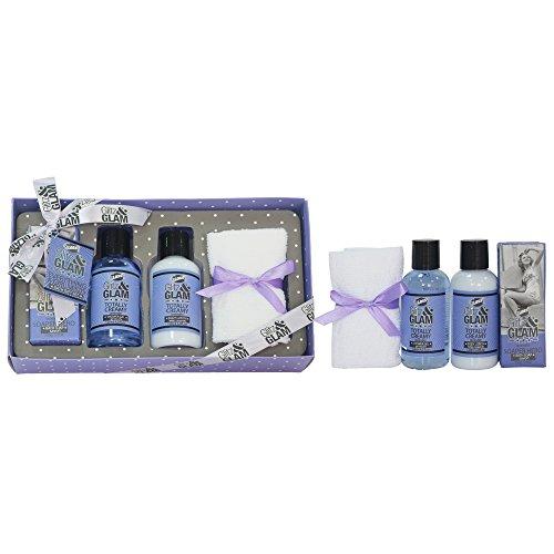 Gloss - Coffret De Bain Pour Femme - Boîte De Bain Incluant Une Serviette Pour Le Visage - Collection Glitz and Glam - Lavande