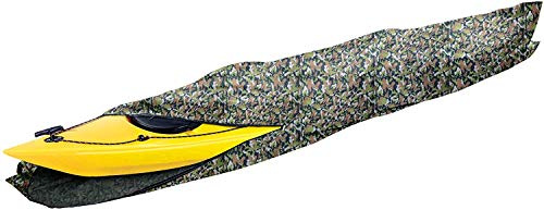 i COVER 16ft Kayak Cover- Water Proof Heavy Duty Kayak/Canoe Cover Fits Kayak or Canoe up to 16ft Long and Beam Width up to 36in, Camo