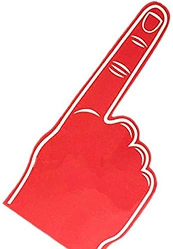Palmas estampadas gigante EVA espuma guantes dedo puntiagudo - Rojo