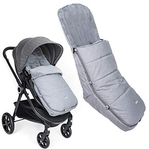 Orzbow Saco Silla Paseo Universal, Invierno saco capazo bebe -Impermeable Sacos Carrito Bebe (Gris claro)