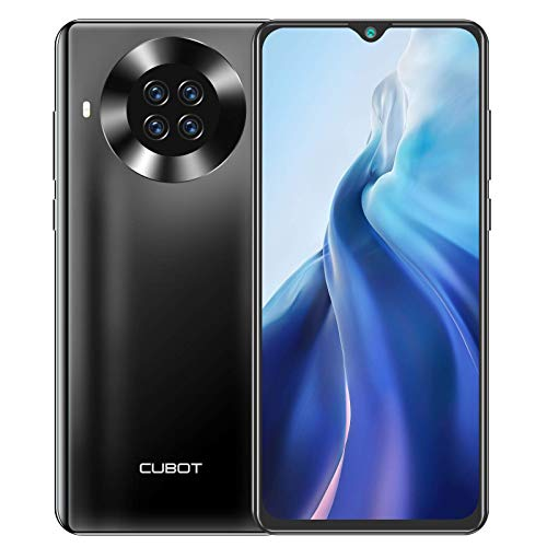 Cubot Note 20 Pro 8GB/128GB Unlocked Phone, Smartphone with 6.5 Inch Dewdrop, Four Rear Camera, 4200mAh Battery, Android 10, 4G Dual SIM, NFC, GPS, WiFi (Black)