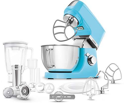 SENCOR STM 6353OR Multifunktions-Küchenmaschine (1000 Watt, Rührmaschine, Knetmaschine, mit Edelstahlschüssel 4,5 L) orange