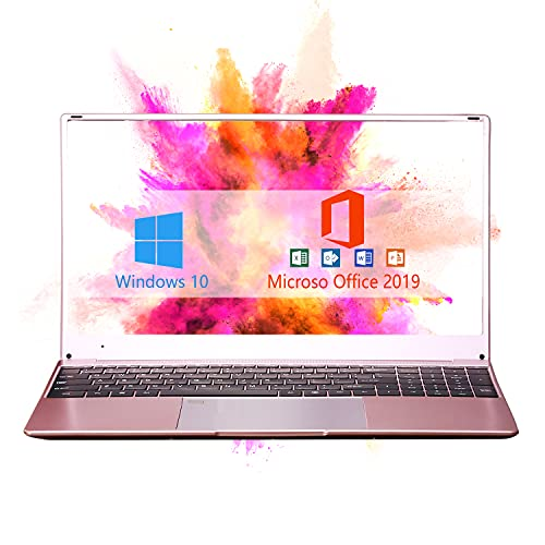 【8GB/Office 2019】15.6-inch FHD large screen high-performance laptop high speed celeron J3455 8G...