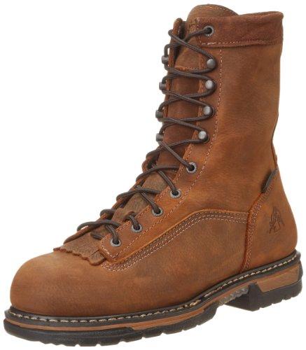 Rocky Men's Iron Clad Eight Inch LTT Steel Toe Work Boot,Brown,10.5 W US