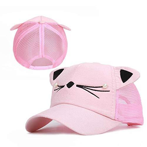 Yidajiu Kinderzonnehoed baseballpet zomer hip hop hoed kinderen hoed voor meisjes Eén maat PINK