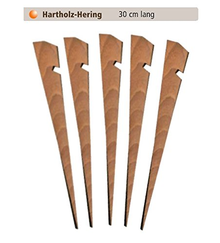 30cm tentharingen van hout ZM - Outdoor Profi Equipment, middeleeuwse tent aardnagel rotsnagel