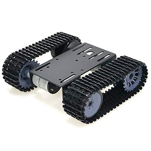 KKmoon Robot rastreado Smart Car Platform Robotics Kits, Tank Crawler Chasis DIY Kit Solid Robotic Platform, Tank Plataforma móvil Robotic Toy Platform, para Arduino