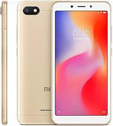 "Xiaomi Redmi 6A Smartphones 5.45"" Pantalla Full HD 2GB RAM + 32GB ROM Procesador Quad-Core de 12 NM, 5MP Delantero y 13MP cámara Trasera, Doble Ranura para Tarjeta SIM + MicroSD (Dorado)"