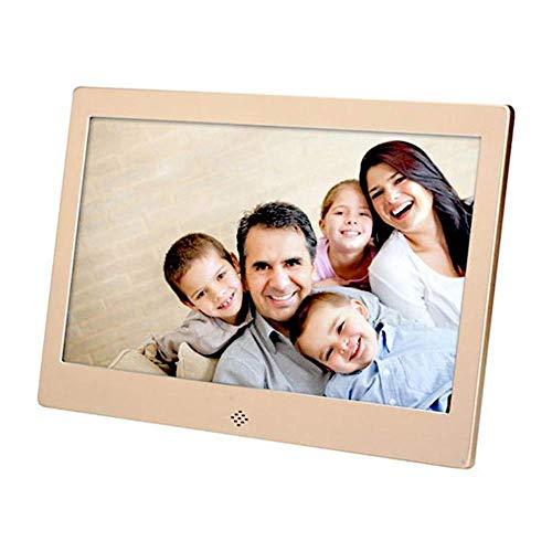 GOHHK 10-Zoll-Digital-Fotorahmen aus Metall 1024 * 600 IPS-Display mit MP3-Musik,...