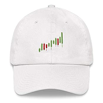 Stock Market Dad Hat Candle Trader Charts Options Forex Crypto Investing Cryptocurrency Trading Bull Cap White